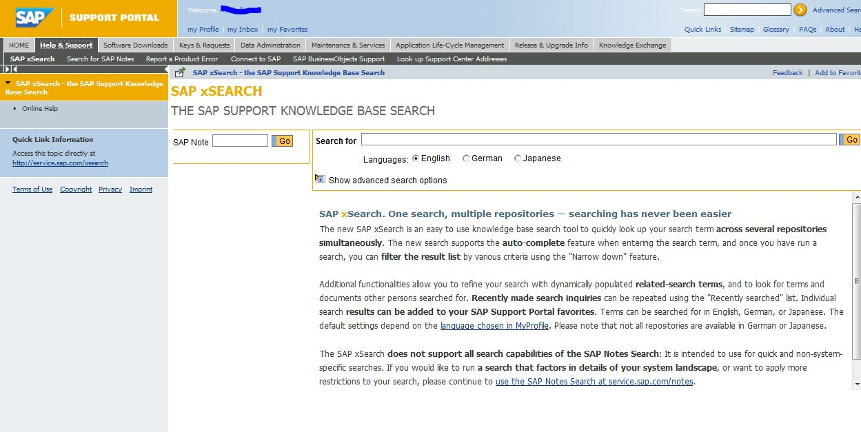 SAP Basis Tutorials: How to search notes in SAP service