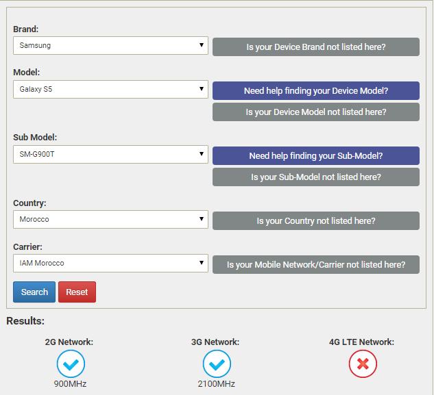 موقع يبين إذا كان أي هاتف تريد شراؤه سيعمل في دولتك أو لا