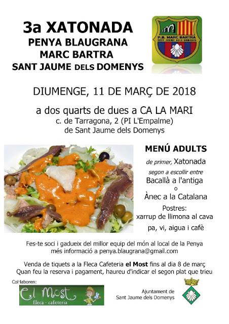 Esguard de Dona - Xatonada 2018 Penya Blaugrana Marc Bartra de Sant Jaume dels Domenys
