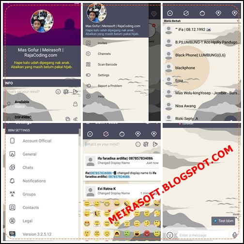 BBM Mod xiaomi Apk Terbaru 2017