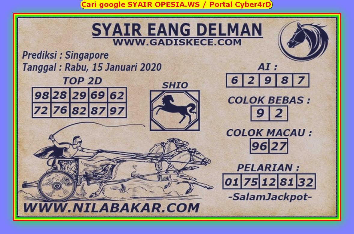 Kode syair Singapore Rabu 15 Januari 2020 150