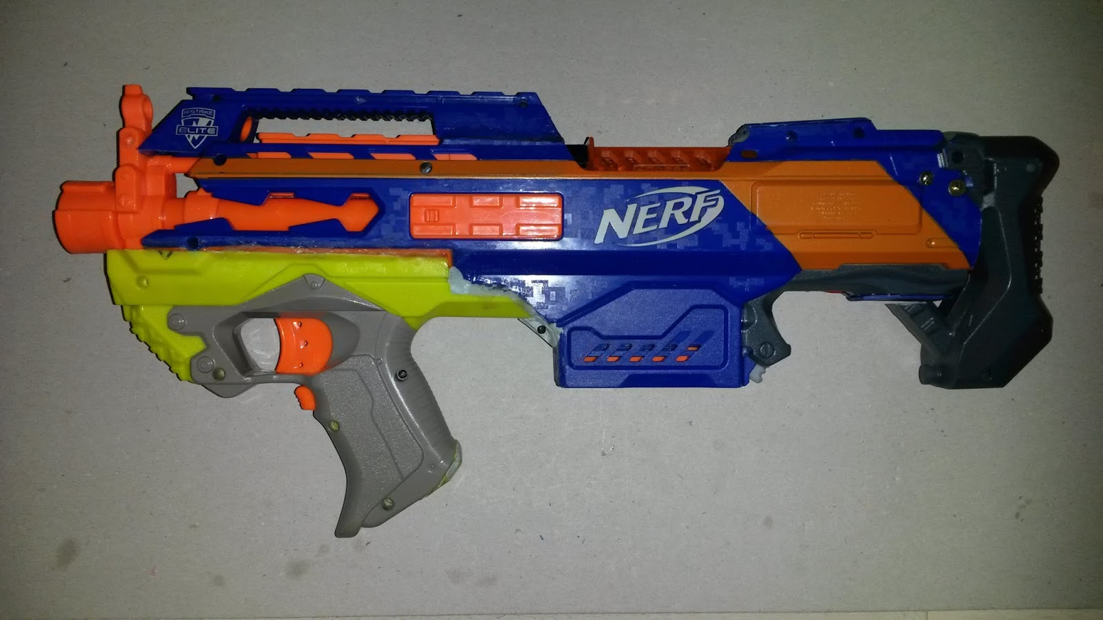 Outback Nerf: Mod: Bullpup Rapidstrike (complete except paint)  Outback Nerf: M...