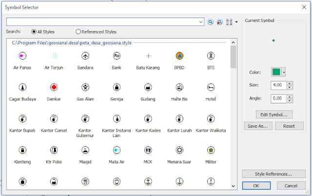 Style Peta Desa untuk ArcGIS Desktop / ArcMap