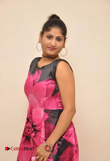 Actress Asmitha Khan Pictures in Floral Frock at Dirty Game Audio Launch 0012