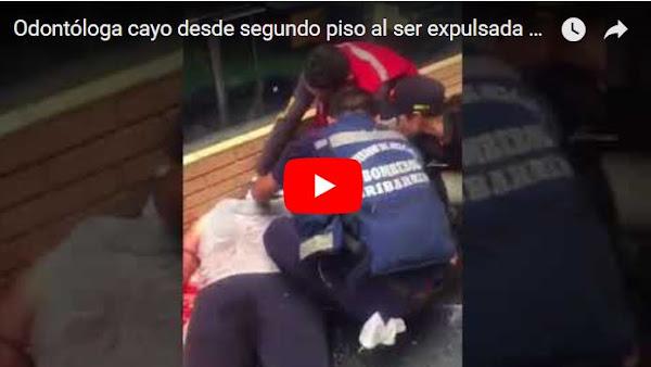 Odontóloga cayo desde segundo piso al ser expulsada por una máquina caminadora