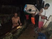 Banjir di Desa Leu Bolo Meluap ke Pemukiman Warga