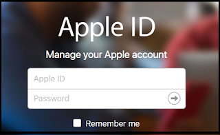 Log In your Apple ID