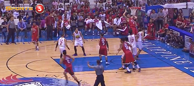 Japeth Aguilar Rises for the Putback Slam Against Star Hotshots (VIDEO)