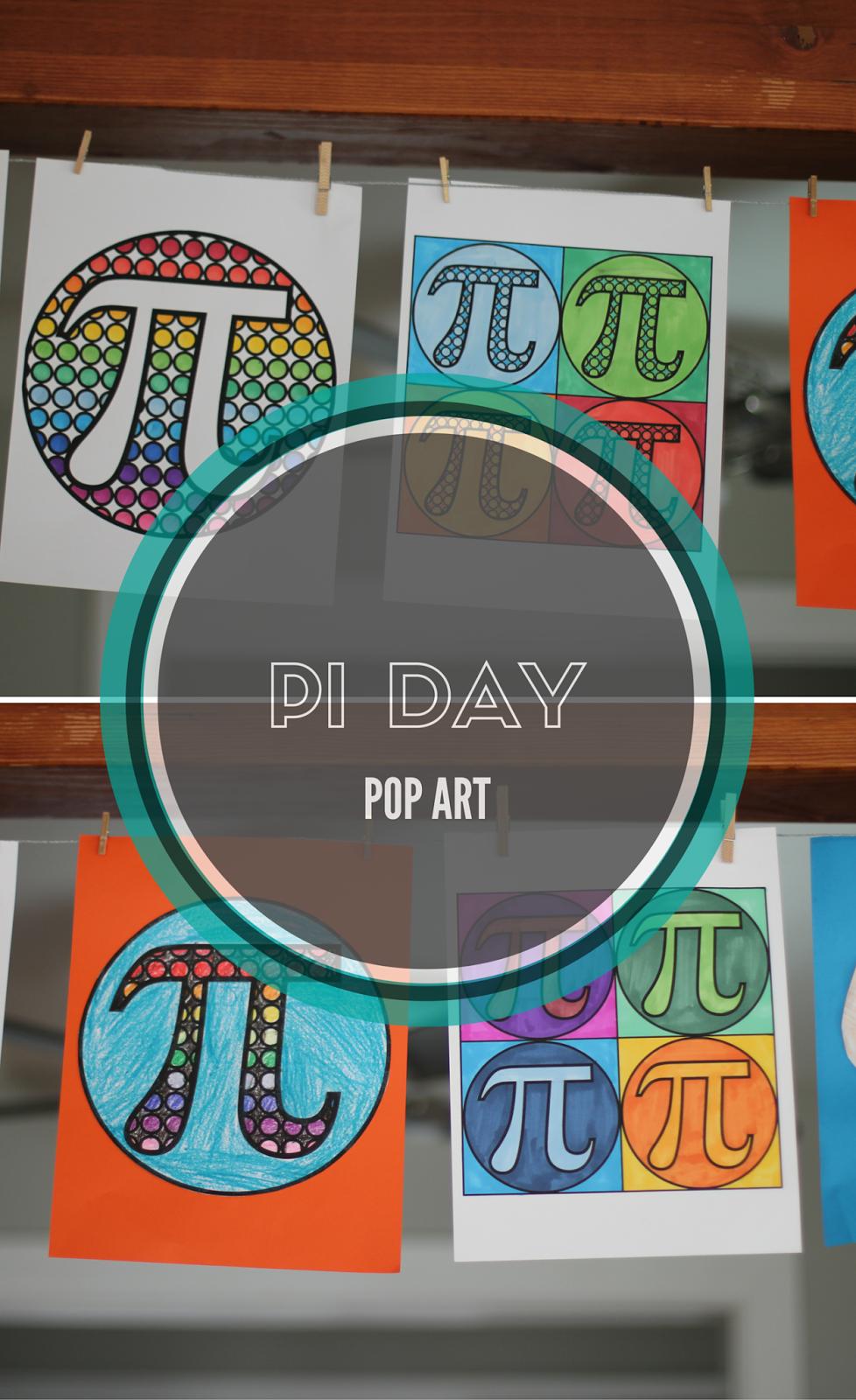 pi day pop art momgineer