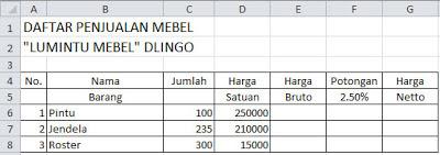 Kumpulan Rumus Fungsi Excel