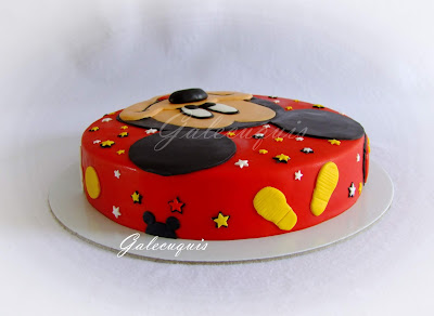 Tarta fondant Mickey Mouse