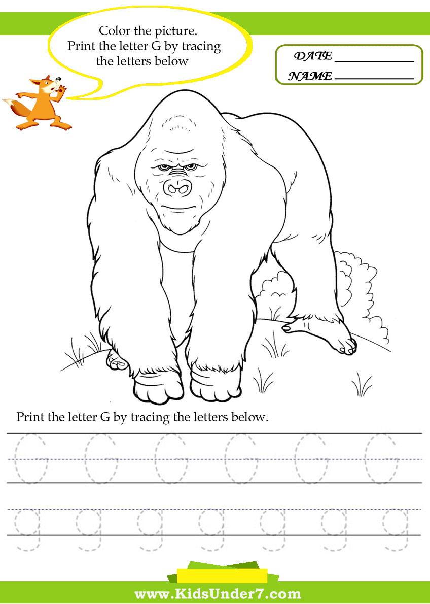 Workbooks letter g worksheets for preschool : Letter G Worksheets For Kindergarten Free Worksheets Library ...