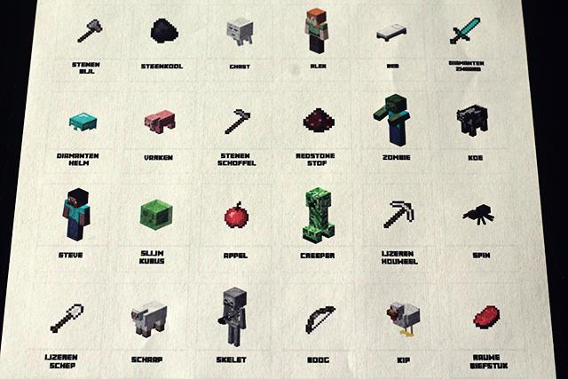 minecraft printable uitgeprint wie is het