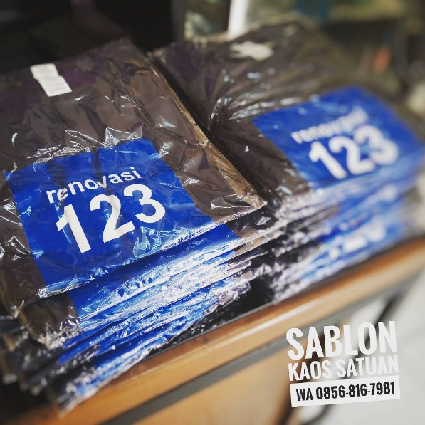 Sablon Satuan kaos di Bekasi call/WA 0856-8167-981