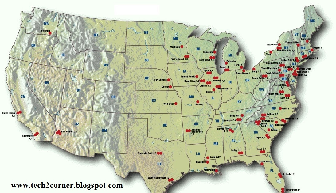 Nuclear Power Plants Ga Map