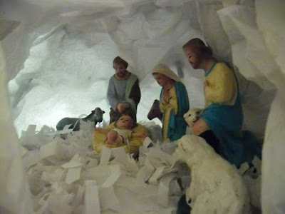 This is the picture of the Christmas crib created by sanjay colaco.