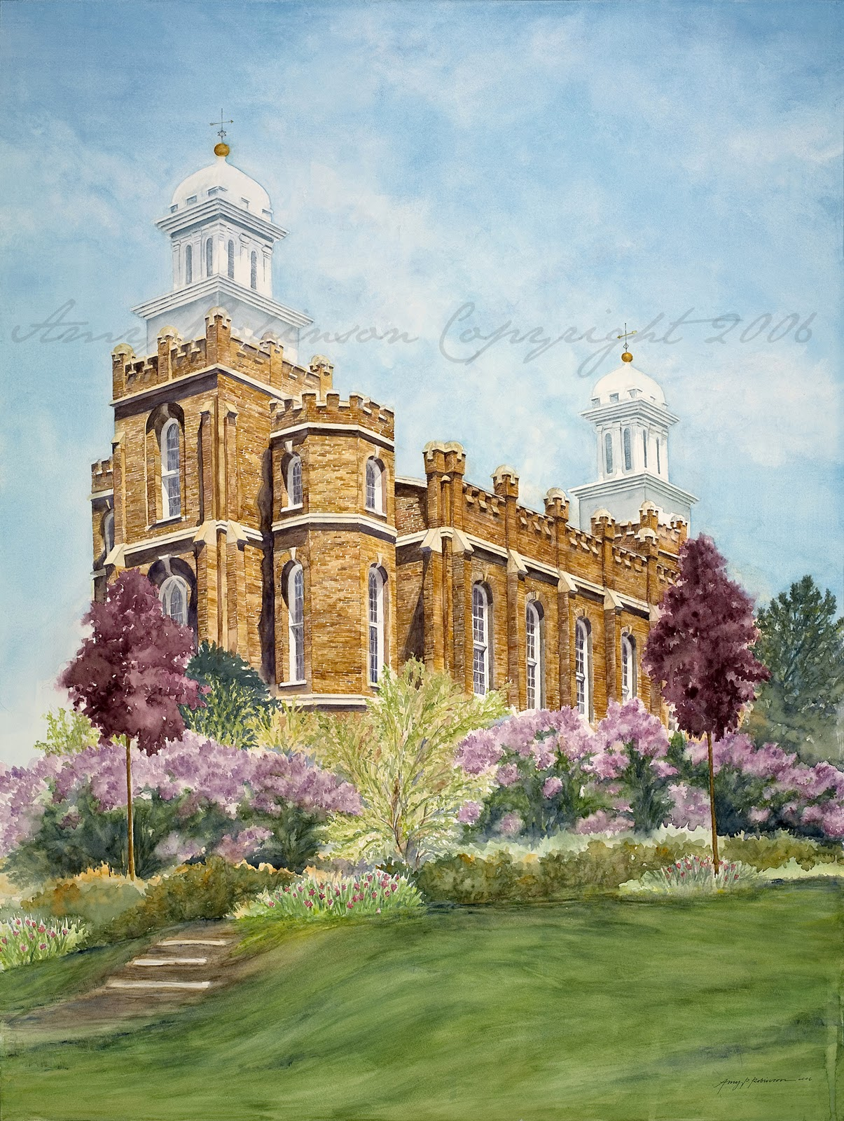 Amy Robinson Original Art Lds Temples And Other Special