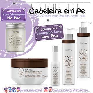 Linha Coco - Amend  (Óleo vegetal de coco liberado para No Poo --- Shampoo, Condicionador, Máscara e óleo umectante liberados para Low Poo)