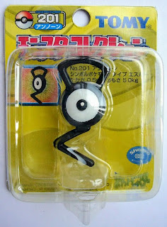 Unown figure Tomy Monster Collection yellow package series