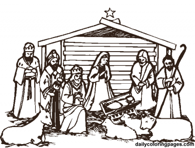 Blog de merlissa for Free printable nativity coloring pages