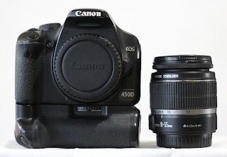 Canon 450D + Lensa 18-55mm