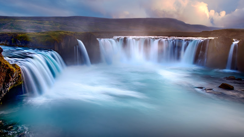 Godafoss Waterfalls in Iceland
