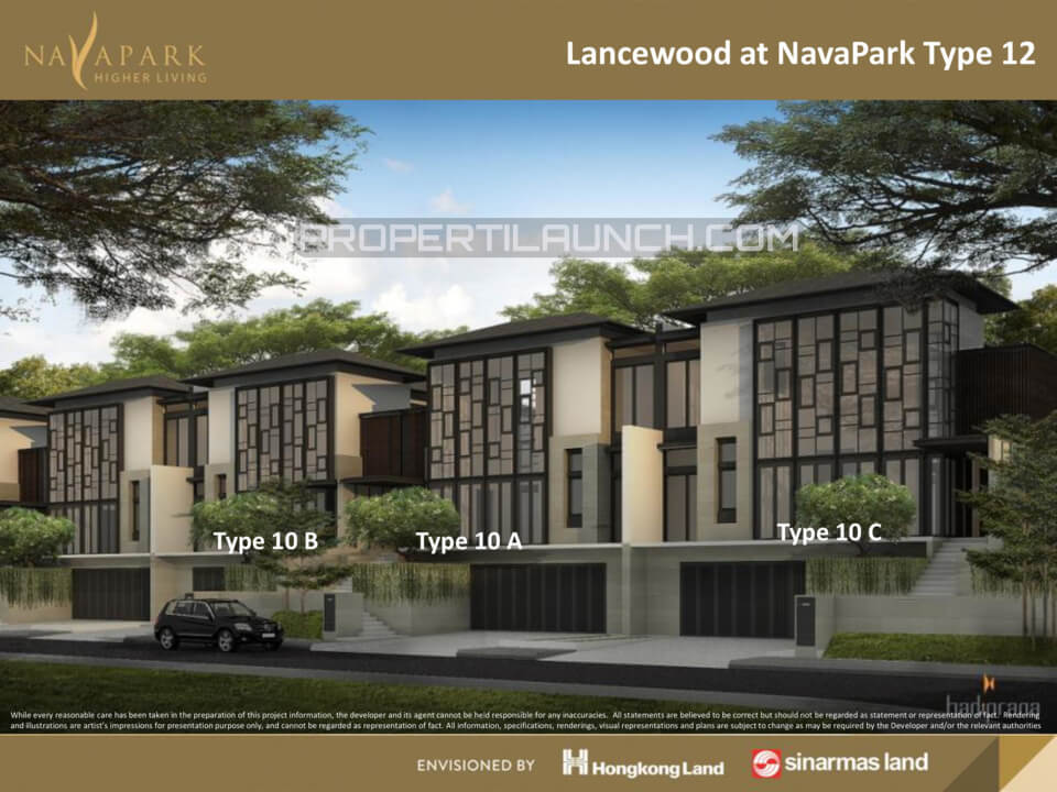Tipe 12 Cluster Lancewood Nava Park