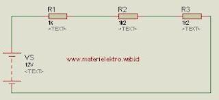 Menghitung rangkaian seri resistor