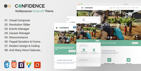 Free premium Nonprofit WordPress Theme Download