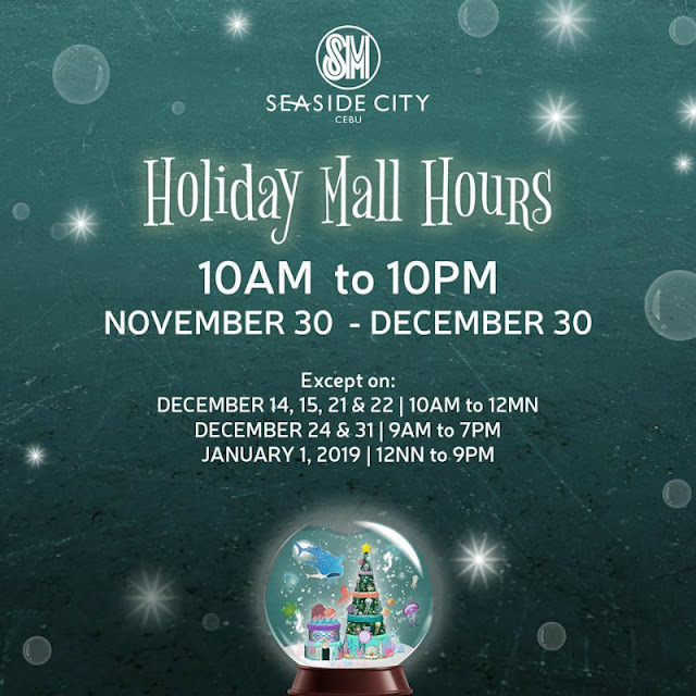 Holiday Mall Hours 2018 SM Seaside City Cebu