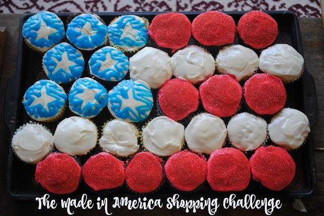 american flag cupcakes and the made in america shopping challenge