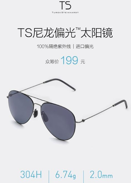 Xiaomi launches styllish Turok Steinhardt sunglasses made of nylon polarizing material; Priced at $29