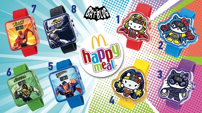 6f2fc7c76 New McDonald's Happy Meal Toy DC COMICS / HELLO KITTY DIGITAL WATCHES  Spotted in Bulgaria!!