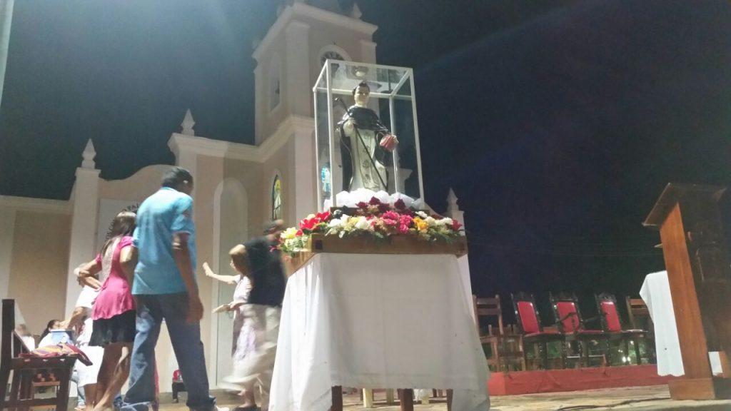 Réplica de São Gonçalo que visitou às comunidades chega à Matriz