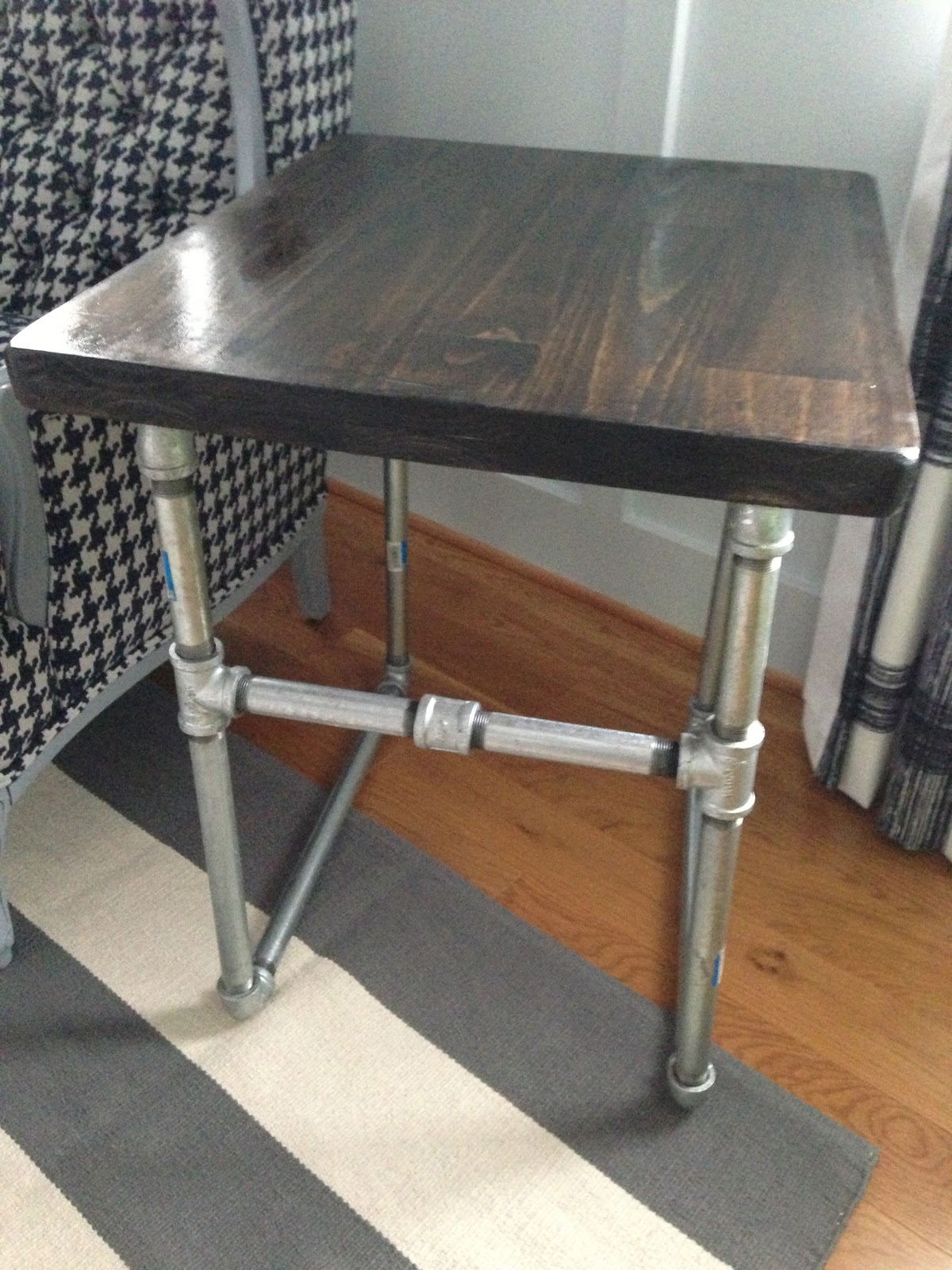Industrial Look End Tables Olivia Grayson Interiors Diy Industrial Chic Side Table