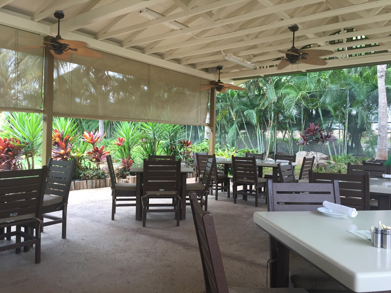 There Is No Clubhouse At Hoakalei Yet So This The Dining Room