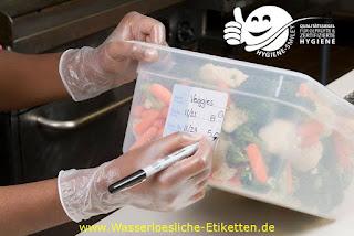 Einfache und sichere Kennzeichnung von Lebensmitteln & Euipment mit wasserlöslichen Etiketten