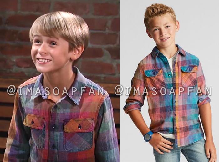 Jake Spencer, Hudson West, Multicolored Shirt, General Hospital, GH