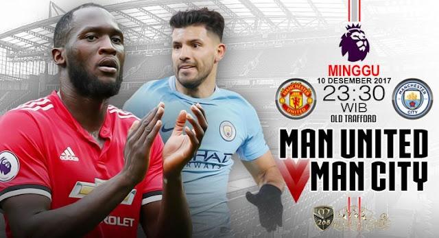 Prediksi Bola : Manchester United Vs Manchester City , Sabtu 10 Desember 2017 Pukul 23.30 WIB @ RCTI