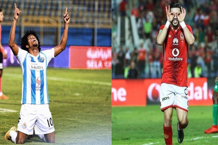 مباراة الاهلي وبيراميدز 4-1-2019 الدوري المصري