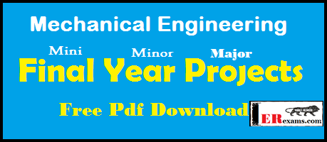 Mini Project For Mechanical Engineering In Pdf