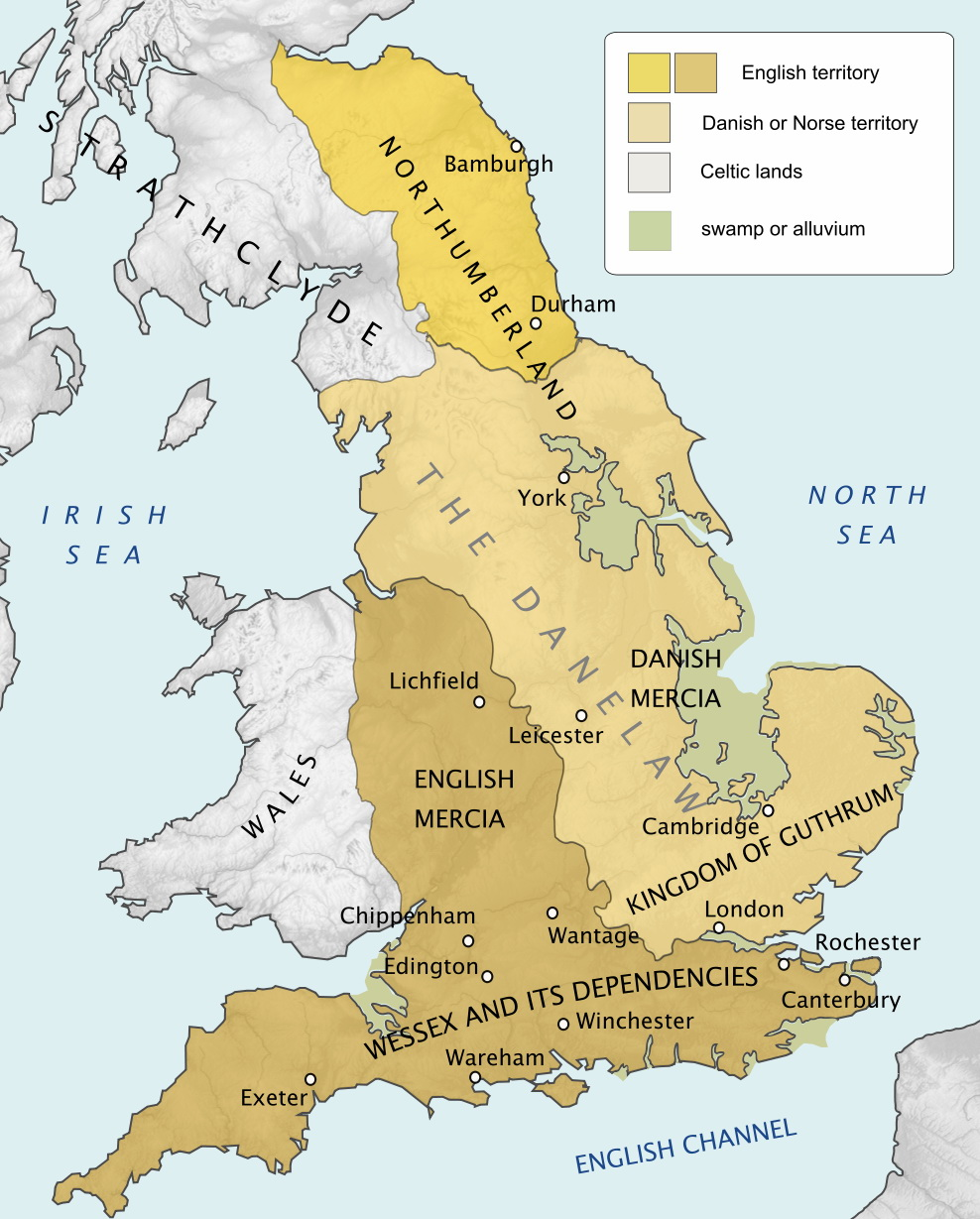 Political map of Britain (878AD)