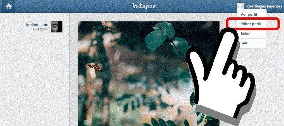 mudar a senha do instagram android