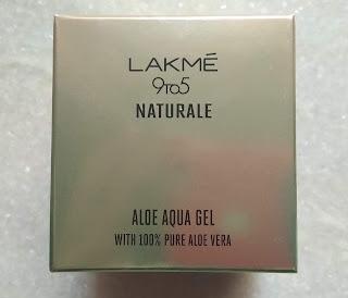 Lakme 9 To 5 Naturale Aloe Aqua Gel Review - Peachypinkpretty