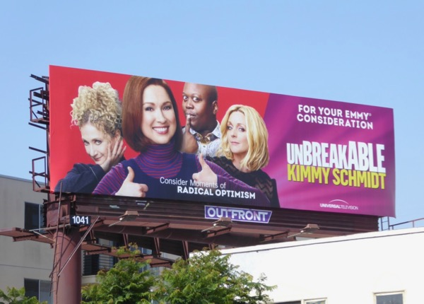 Kimmy Schmidt season 3 Emmy FYC billboard