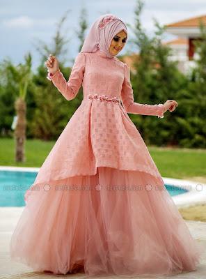 Model baju gamis renda untuk pesta