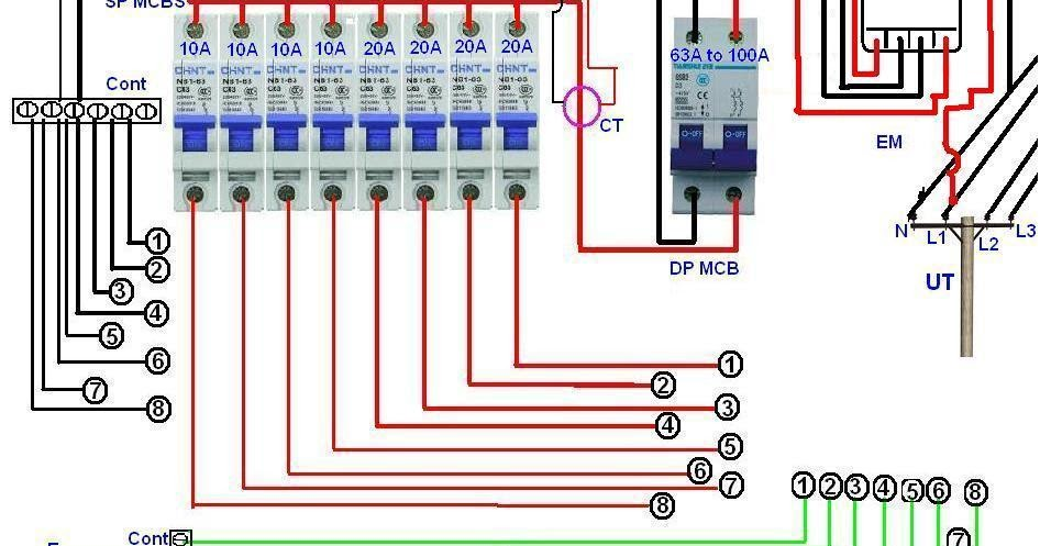 single%2Bphase%2Bdistribution%2Bboard%2Bwiring%2Bdiagram single phase distribution board wiring diagram electrical single phase house wiring diagram pdf at reclaimingppi.co