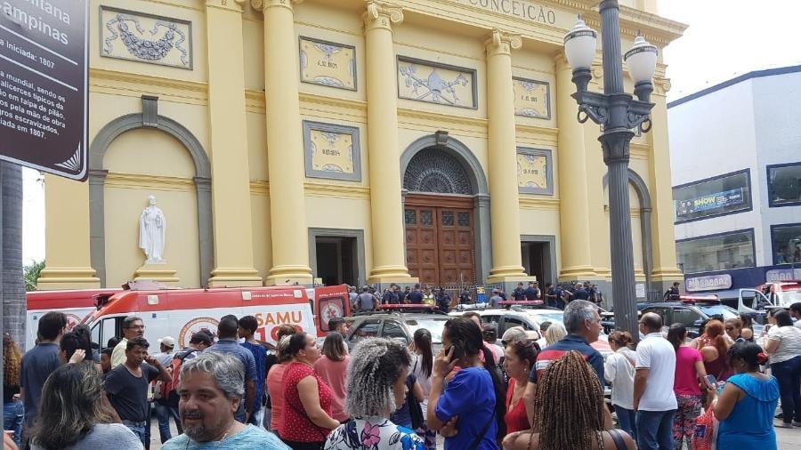 Homem invade missa, mata cinco pessoas e comete suicídio na Catedral de Campinas