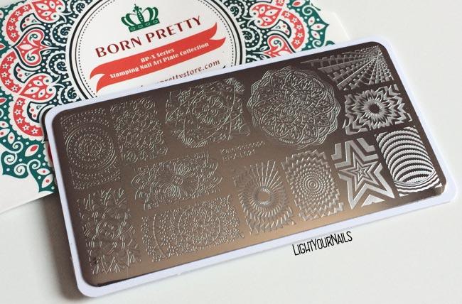 Stamping plate Bornprettystore Kaleidoscope BPX-L021
