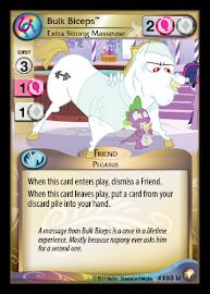 My Little Pony Bulk Biceps, Extra Strong Masseuse Equestrian Odysseys CCG Card